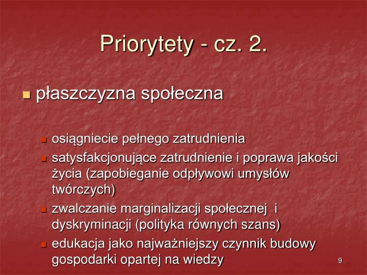 Priorytety - cz. 2.