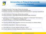 universities in poland that provide engineering degrees1