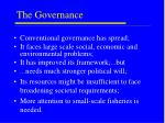 the governance