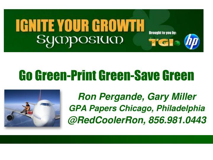 Go green print green save green