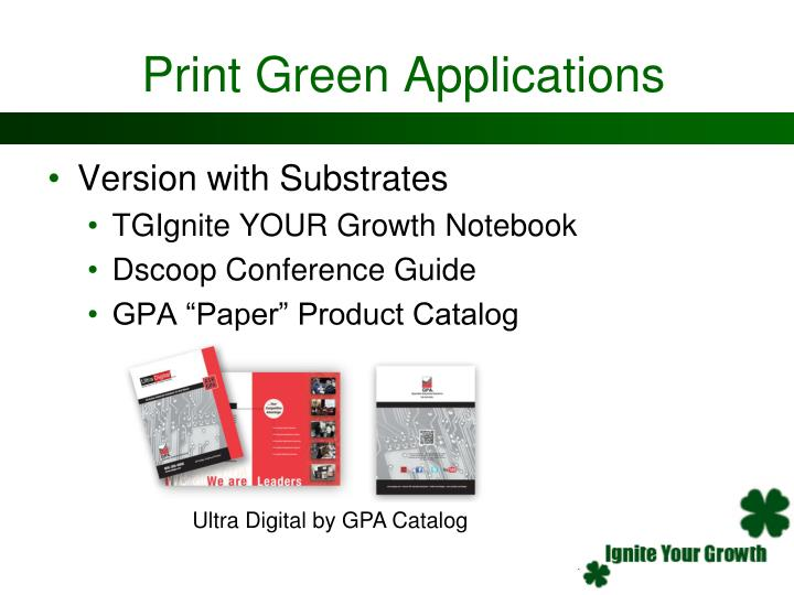 Print Green Applications
