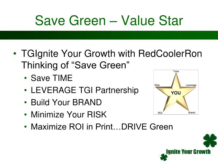 Save Green – Value Star