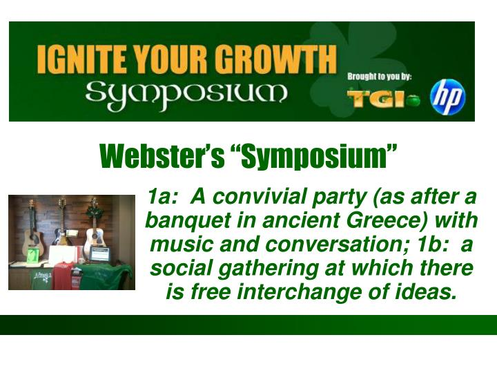 """Webster's """"Symposium"""""""