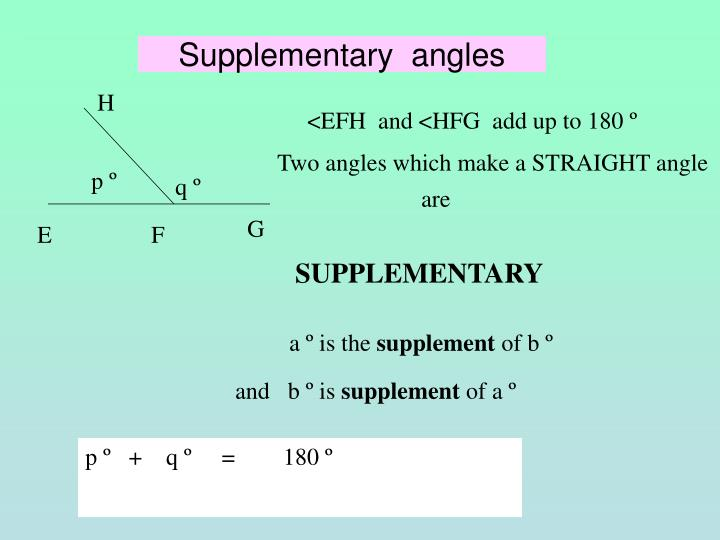 Supplementary angles