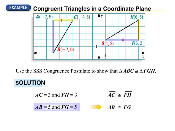 Congruent Triangles in a Coordinate Plane