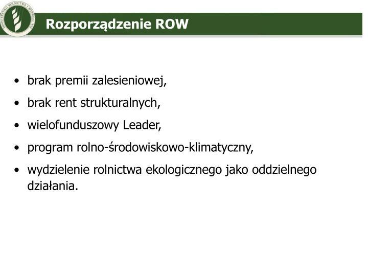 Rozporządzenie ROW