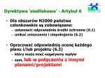 dyrektywa siedliskowa artyku 6