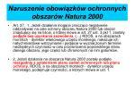 naruszenie obowi zk w ochronnych obszar w natura 2000