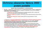 ochrona obszar w natura 2000 prawo polskie