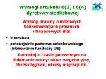 wymogi artuku u 6 3 i 6 4 dyretywy siedliskowej