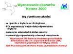wyzn a czanie obszar w natura 2000
