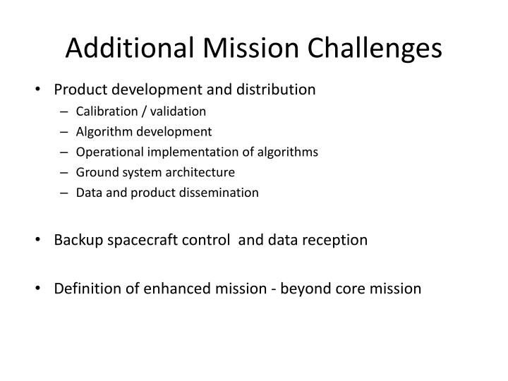 Additional Mission Challenges