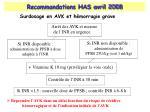 recommandations has avril 20081
