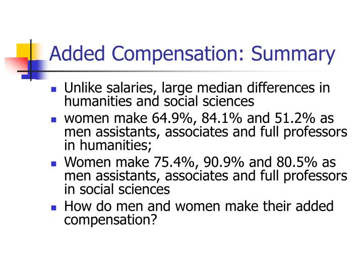 Added Compensation: Summary