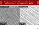 comparison of single polycrystalline tungsten implanted with 3 he to 5x10 16 cm 2 at 850 c