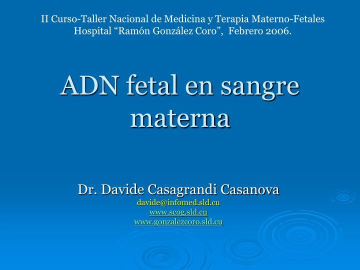 adn fetal en sangre materna n.