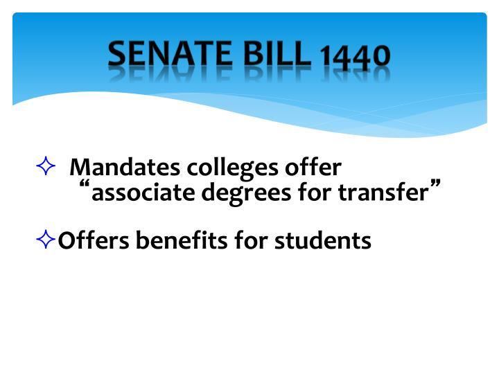 Senate Bill 1440