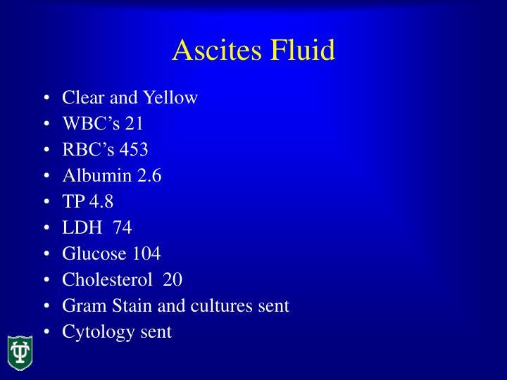 Ascites Fluid