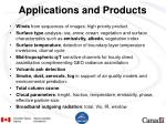 applications and products