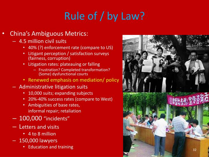 Rule of / by Law?