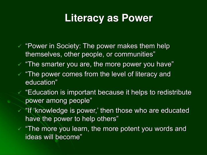 Literacy as Power
