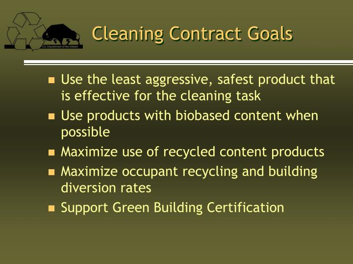 Cleaning Contract Goals