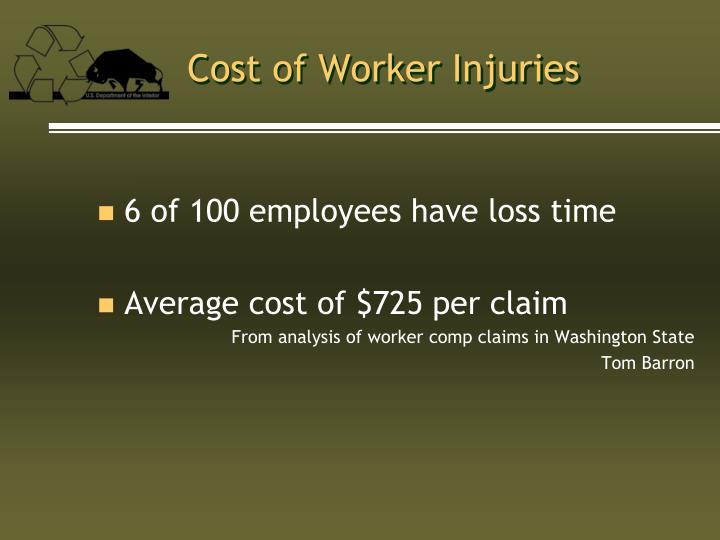 Cost of Worker Injuries