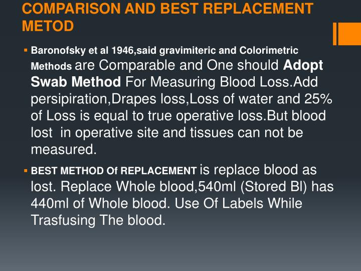 COMPARISON AND BEST REPLACEMENT METOD