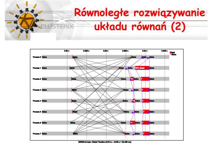 Równoległe rozwiązywanie układu równań (2)
