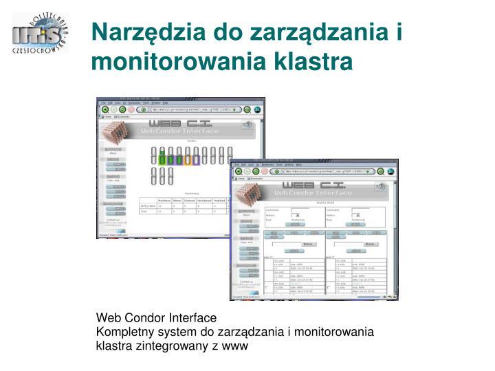 Narzędzia do zarządzania i monitorowania klastra