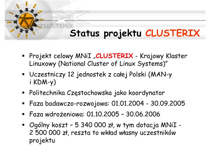 Status projektu
