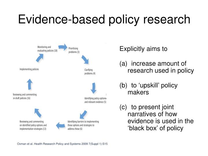 Evidence based policy research