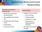 authenticity amid contractual relationships