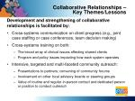 collaborative relationships key themes lessons2