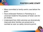 foster care staff