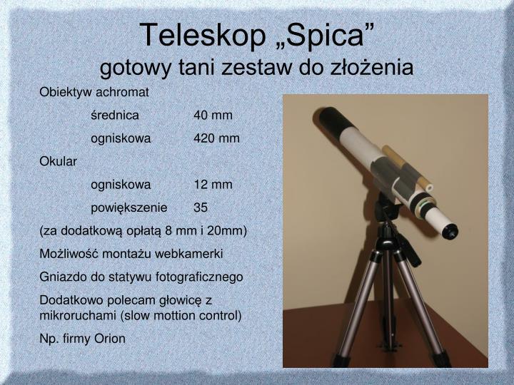 """Teleskop """"Spica"""""""
