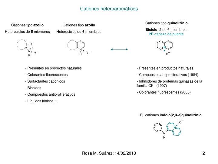 Cationes heteroaromáticos
