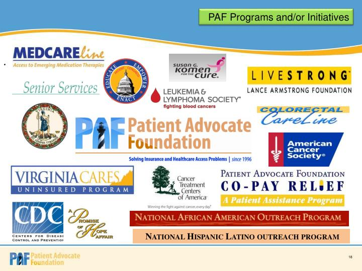 PAF Programs and/or Initiatives