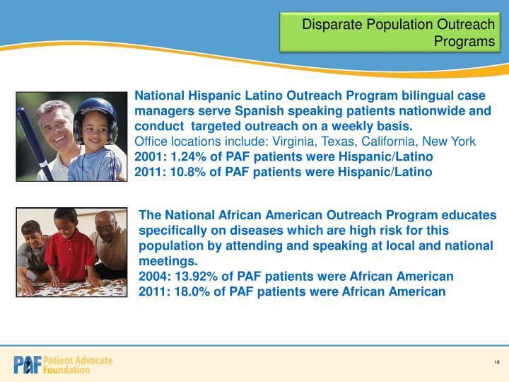 Disparate Population Outreach Programs
