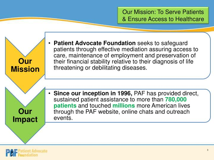 Our Mission: To Serve Patients & Ensure Access to Healthcare