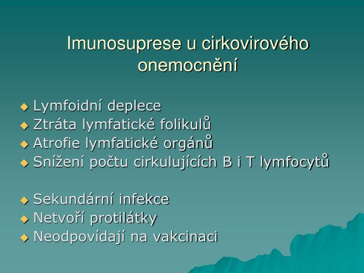 Imunosuprese u cirkovirového onemocnění