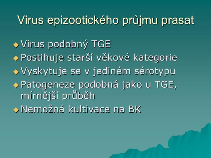 Virus epizootického průjmu prasat