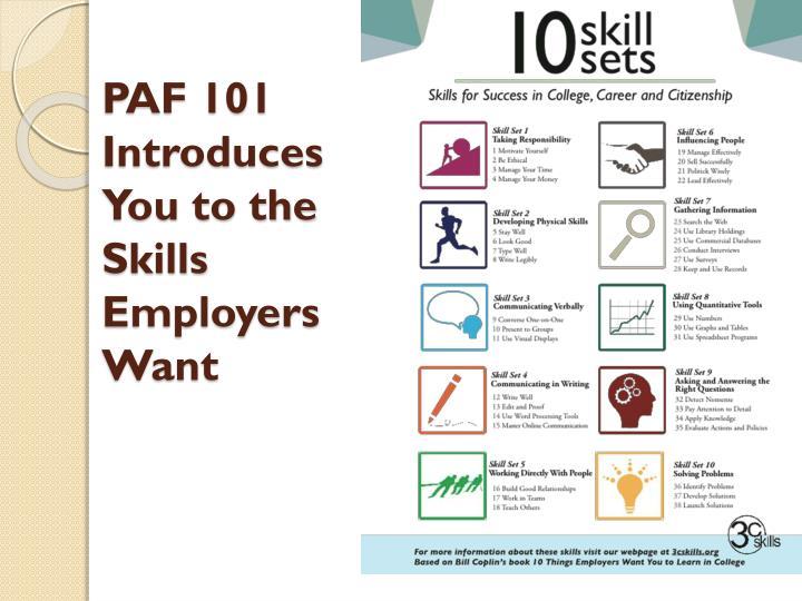 PAF 101 Introduces