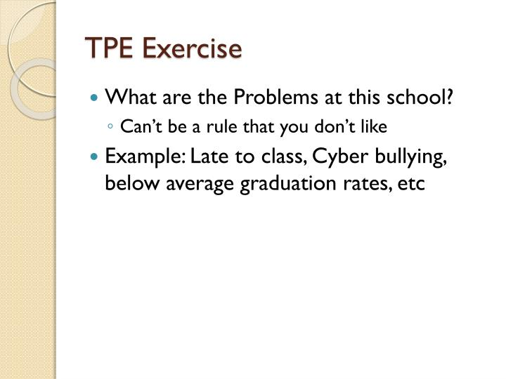 TPE Exercise