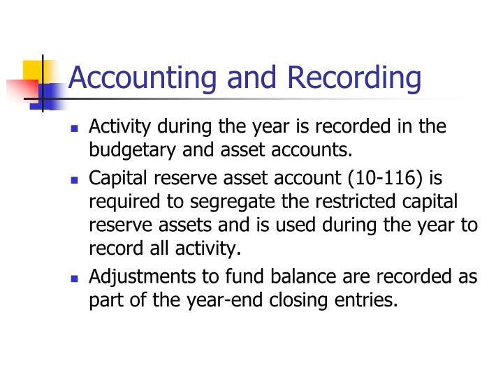 Accounting and Recording