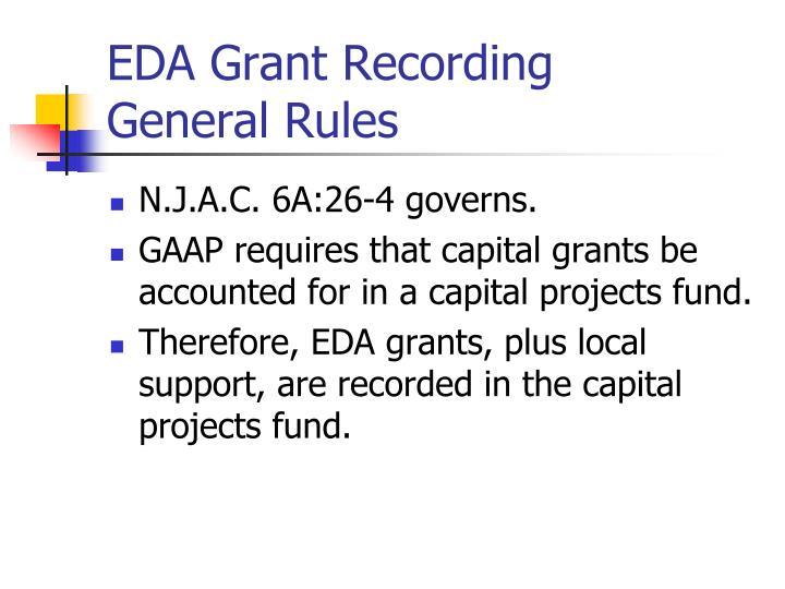 EDA Grant Recording