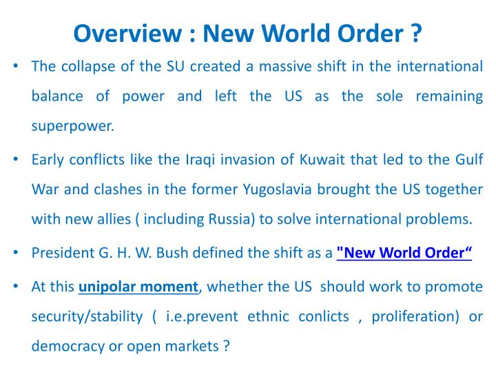 Overview new world order