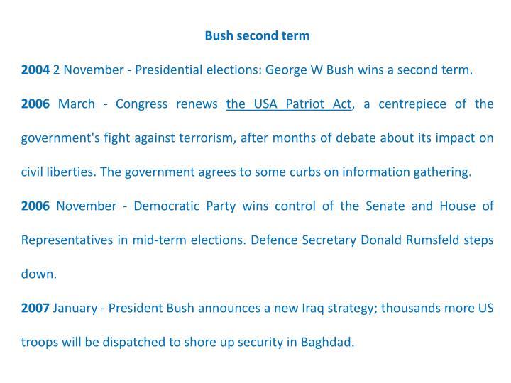 Bush second term