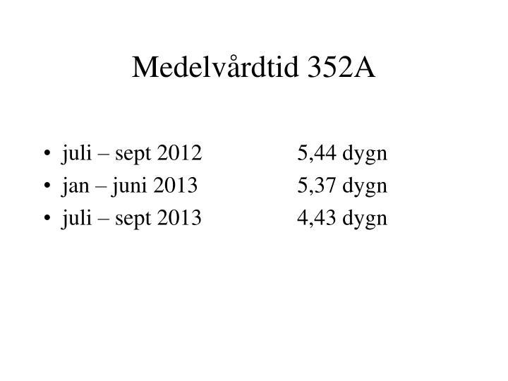 Medelvårdtid 352A