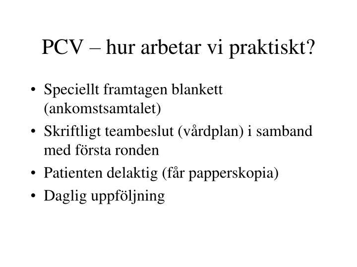 PCV – hur arbetar vi praktiskt?